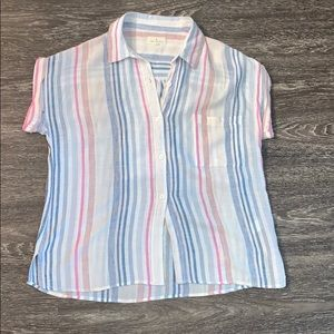 THREAD & SUPPLY SIZE XS STRIPED BUTTON UP SHIRT
